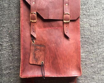 backpack for laptop 13' (MacBook, Microsoft Surface Pro), handmaded leather bag