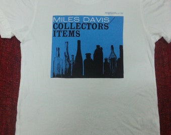 Rare Miles Davis tshirt / small / jazz / blues / rock / legend / big logo /
