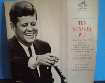 Vintage Mid Century Political Presidential Record - The Kennedy Wit Album