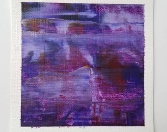 Original Purple Abstract Painting - Mini Abstract Painting - Gift for Art Lover - Original Modern Art - Purple Abstract Painting - Wall Art