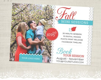 Fall Mini Session Template for Photographers - MS20