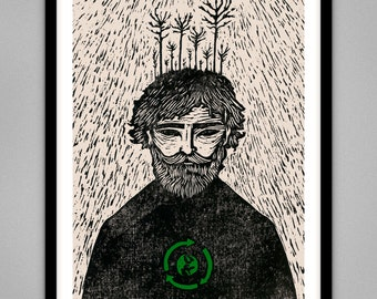 Green Peace - Signed Limited Edition Giclee Print A4 & A3