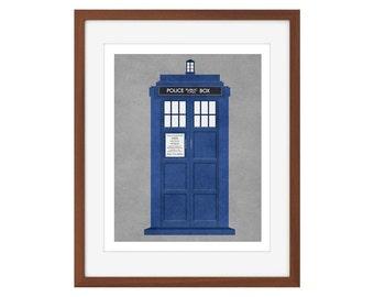 Doctor Who print - the TARDIS