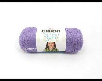 Caron Simply Soft Yarn, Lavender Blue, 6oz