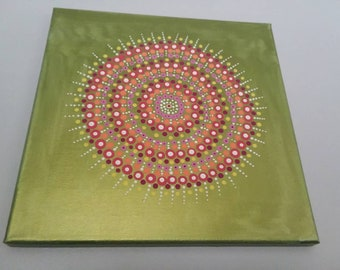 Dot Art Acrylic Mandala Spiritual Canvas Painting