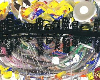 City Lights Abstract Art Print