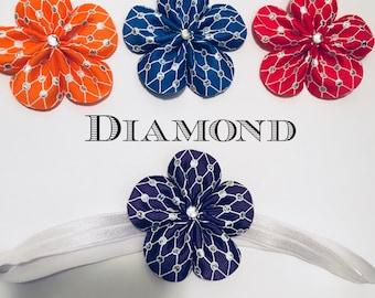 Diamond mesh hair flower