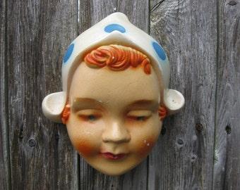 Vintage Dutch Girl String Holder Chalkware