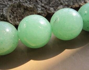natural Green Aventurine 14mm Round Ball beads