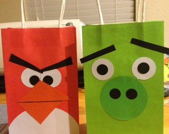 Angry Bird Party Favor Bags