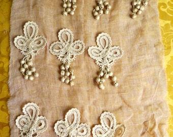 Antique French Tassel Applique