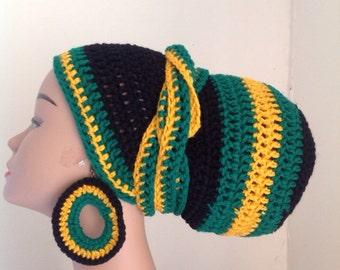 Head wrap and earring set
