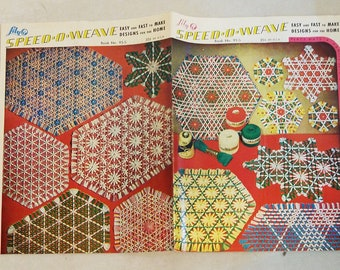 Vintage Lily Speed-O-Weave Book, No. 95-S, Make Place Mats, Vanity Sets, Buffet Sets, Doilies, Beverage Sets, Centerpieces