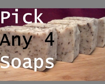 Shop Special / 4 Soaps for 20 dollars / Pick any 4 Soaps