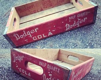 Super Rare Vintage 1960 Dodger Cola Wood Soda Pop Crate
