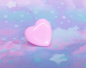 Fairy Kei Ring, Kawaii Rings, Japanese Fashion, Baby Pink, Gold Plated Ring Adjustable Ring, Pop Kei, Decora Ring, Harajuku Fashion