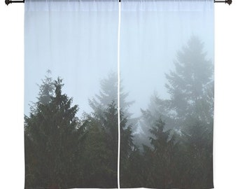 Sheer Curtains - Forest, Treescape, Home Decor, Redwoods, hike, nature photography by RDelean Designs