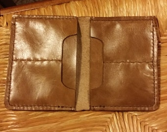 Men's wallet-leather wallet-Italian leather ladies wallet-wallet card holder entirely handmade.