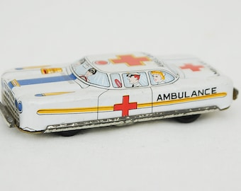 1950s Japanese Tin Toy Ambulance