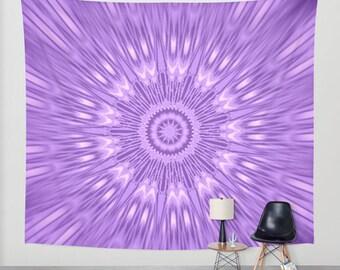 Wall Tapestry, Purple Wall Tapestry, Lavender Wall Tapestry, Wall Hanging, Wall Decoration, Wall Tapestries, Purple Kaleidoscope