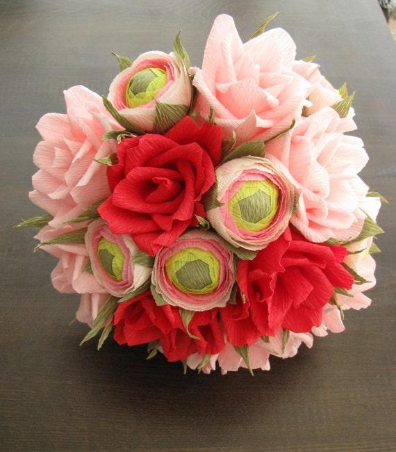 Bridal paper flower bouquet/ Anniversary gift/ Paper decor