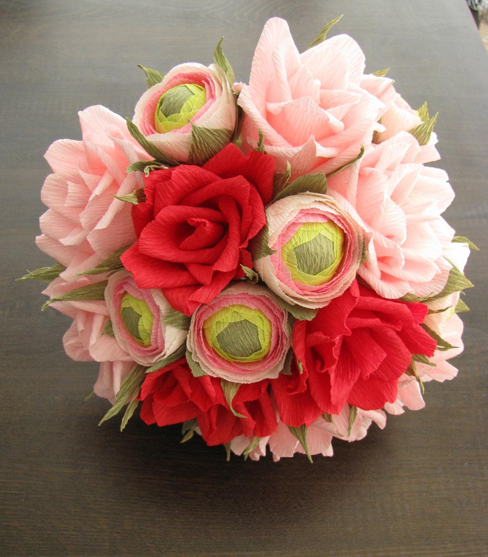 Bridal Paper Flower Bouquet Anniversary Gift Paper Decor