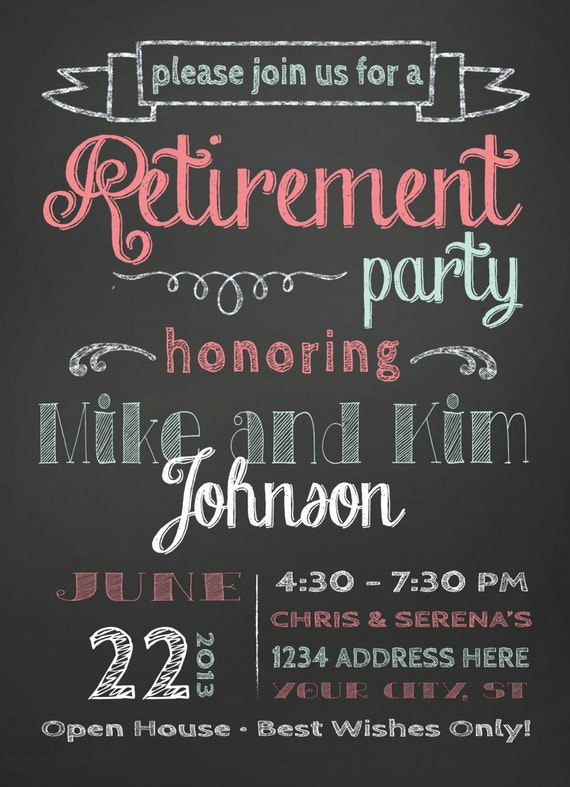 Perfect Retirement Party Invitation EM02