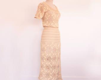 Vintage 1930s Crochet Dress