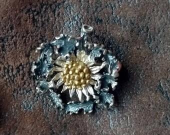 Pendant pin Brooch Silver Edelweiss Ornament