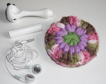Headphones case, Puff Pocket, Purse pocket, Stash bag, Pink camo, Green, Orchid, Fidget spinner case