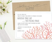 Beach Theme Wedding Invit...