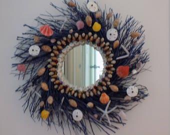 Whimsical Specimen Sea Shell Mirror