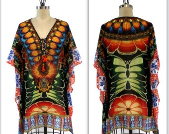 Gorgeous and Sensational Beaded Plus Size Caftan 1XL/2XL and  3XL/4XL