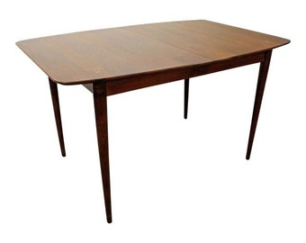 Mid-Century Modern American of Martinsville Walnut Surfboard Dining Table