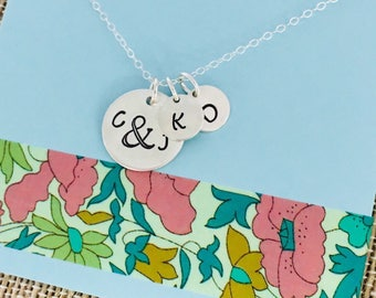 Personalized Family Necklace, Sterling Silver Mom Necklace, Personalized Necklace for Mom, Family Necklace