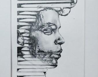 Original pencil drawing //Prince
