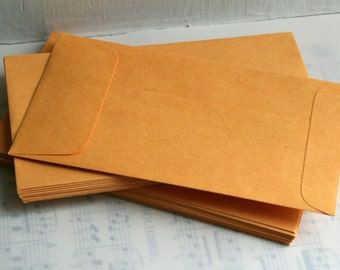 Manila Coin Envelopes- Set of 20 small manilla envelopes for crafts, assemblage, collage, scrapbooks