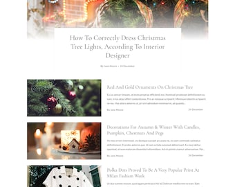 Festive | Responsive Blogger Template / Responsive Blogger Theme + Free Installation