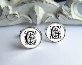 Individuelle Manschettenknöpfe, Monogramm Manschettenknöpfe Hochzeit Manschettenknöpfe, personalisierte Manschettenknöpfe