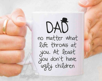 Dad birthday gift, Fathers day gift from daughter, fathers day mugs, dad mug, dad gifts from daughter, gifts for dad, new fathers MU138