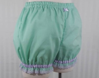 Mint plain mini sweet lolita fairy kei bloomers shorts adult woman size small-plus size
