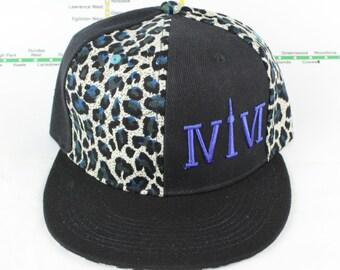 Electric Blue Cheetah Mroooowwr! Original, Custom, One of a Kind, Snap backs, CN Tower, The Six, 6ix, Area Code, 416 Hats, Roman Numerals