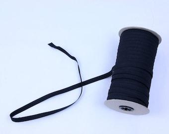 12mm elastic cord, white elastic, black elastic, dressmaking cord, flat elastic, sold by metre, craft cord, woven elastic, trim, lingerie