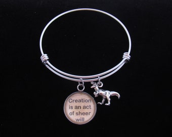 Creation Is An Act Of Sheer Will - Jurassic Park - Charm Bracelet