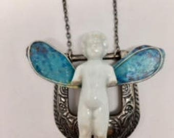 Western Angel Frozen Charlotte Necklace