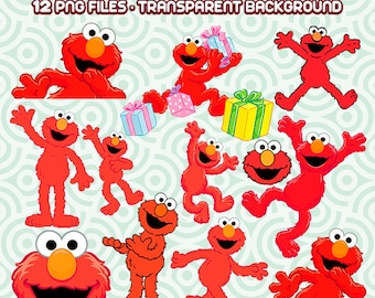Elmo Clipart, Elmo PNG, Sesame Street Clipart, Elmo Party, Elmo Files, Sesame Street Images, Instant Download 10