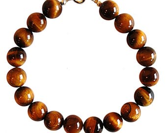 Bracelet Tiger eye beads 10mm