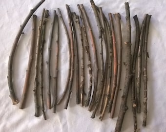 """Weeping Willow Sticks Twigs Lot #4-  1/4""""-3/8""""  Thick -21 Pieces 12""""-16"""" Long for Woodworking, Crafts, Natural Decorating, Ritual Tools"""