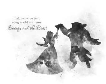 Beauty beast quote etsy belle beauty and the beast ballroom dance quote art print illustration black and white disney princess home decor nursery voltagebd Choice Image