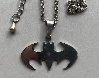 Batman Pendant Necklace, Stainless Steel pendant